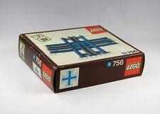 LEGO Railway Crossing Tracks Rails ribbed Blue train 12V New Set 756