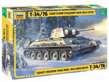 Zvezda Model Kit 3689 Soviet medium tank mod.1943 URALMASH T-34/76, scale 1/35