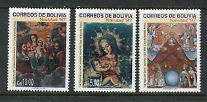 BOLIVIA SCOTT# 1020-2 CEFILCO# 1402-4 CHRISTMAS ART MNH AS SHOWN