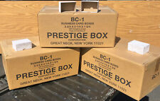 3 Cases - 100 Rigid Business Card Boxes per case - 200 Size Count  - NEW SEALED