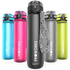Proworks Sports Water Bottle BPA Free Plastic Running Drinks For Adults & Kids