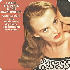 I Wear The Pants In This Relationship... funny drinks mat / coaster     (hb)