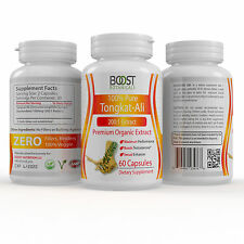 3 BOTTLES TONGKAT-ALI EXTRACT MALE 200:1 EXTRACT MALE ENHANCEMENT 180 CAPSULES