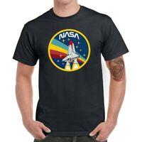 NASA Rocket Men T-Shirts Funny Graphic Shirt Cotton Short Sleeve Basic Top Tees