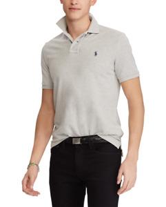 NWT Polo Ralph Lauren Cotton Polo SHIRT T-SHIRT Regular Fit Gray Heather  M, L