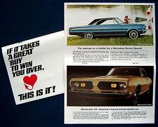 Prospekt brochure 1967 Plymouth Programm Mailer   (USA)