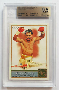 Manny Pacquiao 2011 Topps Allen and Ginter RC ROOKIE CARD BGS 9.5 GOLD LABEL