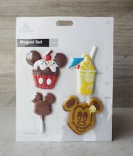 Disney Parks 2021 Mickey Icon Magnet Set of 4 Dole Whip Food Snacks - BRAND NEW