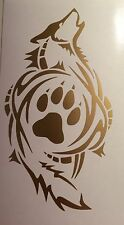 TrIbal Wolf Paw Print  Decal VINYL STICKER Funny WINDOW CAR Gold
