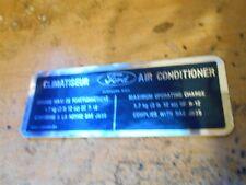 1979 1980 1981 FORD LINCOLN MERCURY CLIMATISEUR AIR CONDITIONING DECAL D9BH-BA