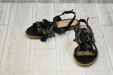 **NEW Hush Puppies Chrissie Tassel Sandals - Women's Size 7.5 M - Black