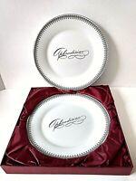 "Rare Vintage Victorian Trading COMPANY ""APHRODISIAC"" Porcelain Plates,  Set of 2"