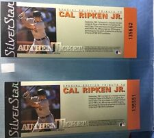 "2 Cal Ripken Jr.""SPECIAL EDITION"" TRIBUTE TICKET 1991 (SILVER STAR AUTHENTICKET)"