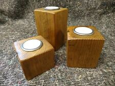 Vintage Reclaimed Pine Candle Holders (Tea lights, Rustic Candles, Wooden)