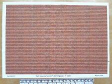"""OO/HO gauge (1:76 scale) """"Dark brown roof shingles"""" - paper - A4 sheet"""