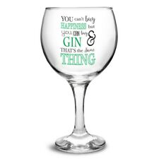 PERSONALISED You Can't Buy Happiness Gin Balloon Glass : Christmas Birthday Gift