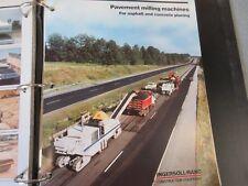 Ingersoll-Rand Pavement Milling Machines Literature
