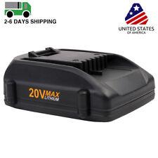 2.0ah WA3525 WA3520 20V MAX Lithium Battery for WORX WG163 WG151s WG155s WG251s