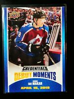 Cale Makar - 2019 Upper Deck Credentials Debut Moment Achievements Tier 1 Rookie