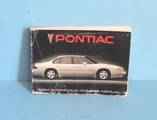 94 1994 Pontiac Bonneville owners manual
