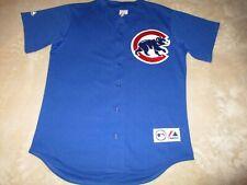 ⚾ vtg Mens MAJESTIC - CHICAGO CUBS Blue Team Jersey Shirt M Medium MADE in USA