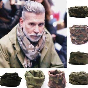 Tactical Military Army Snood Neck Warmer Camo Head Wrap Balaclava Hat Cap Scarf