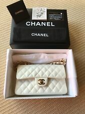 Genuine Chanel Small Classic Double Flap Shoulder / Hand Bag with Gold Hardware