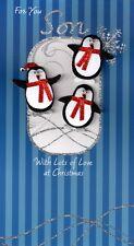 Per voi son pinguini lusso 3D cartolina di Natale Xmas CARDS relazioni speciali