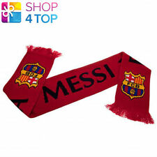 FC BARCELONA FAN SCARF LIONEL MESSI BURGUNDY FCB OFFICIAL FOOTBALL SOCCER CLUB