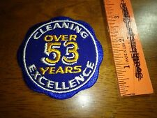 vintage  Dry Cleaning & Laundry  cleaning 53 years advertisement patch BX P#4