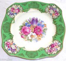 """Tirschenreuth Bavaria China Salad/Desert Plates """"Decorated in Own Studio"""" 8.3"""" d"""