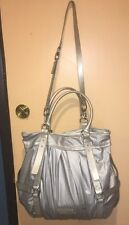 Cole Haan Purse Tote Cole Haan Handbag silver/gray Patent Leather Bag