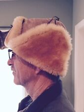 Leprechaun Sheepskin Shearling Trapper Hat Size Medium