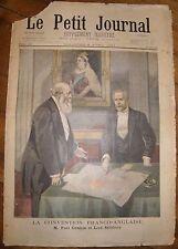 Le Petit Journal 1899 - Supplément Illustré - N°438 Cambon & Salisbury