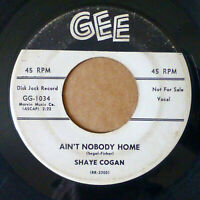 SHAYE COGAN pop r&r 45 AIN'T NOBODY HOME / STAY AWAY NEARER promo GEE dm 991