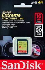 Sandisk Extreme 16GB SD SDHC UHS-1 U3 16GB Sandisk SDHC Speicherkarte NEU&OVP