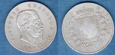 Italie Italia - 5 Lire Vittorio Emanuele 1876 R Rome - Argent Silver