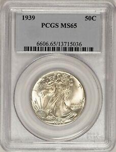 1939 Walking Liberty Half Dollar PCGS MS65! #CAS0