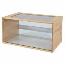 Wood & Glass Small Pet Terrarium Large Wooden Home Skyline Vented Panels