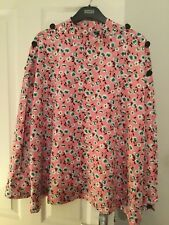 M & S Collection Pink Floral Print Button Detail Blouse Size 20 BNWT