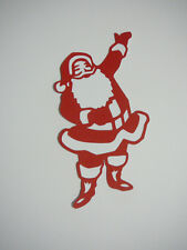 scrapbooking embellishment red and white santa claus