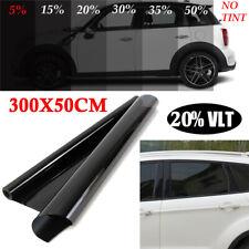 Window Tint Film 20% VLT Black Roll 300*50cm Car Auto House Home