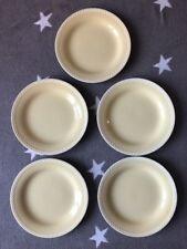 Vintage Figgjo Flint Norway 5 Dinner Plates Pastel Yellow Sissal Scandi Design