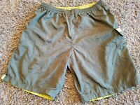 STUSSY Green Men's Shorts Board Surf  Camo Size MEDIUM Spellout Swim Trunks