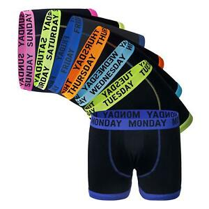 Days Of The Week Boxer Shorts 7 Pairs Men's Comfort Fit Boxers Underwear