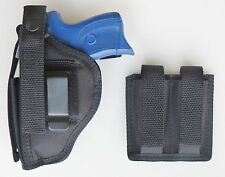 Combo for Ruger LC9 & LC380 Holster Double Magazine Pouch Black