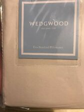 New WEDGWOOD England 1759 Ivory Embroidered 2 Standard Pillowcases
