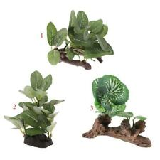 Resin Reptile Artificial Plants for Lizard, Gecko, Water Frog, Other Reptile