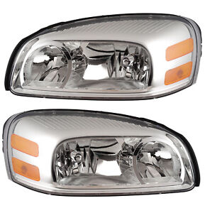 Headlights Pair Set for 05-07 Buick 05-09 Pontiac Montana/Chevy Uplander