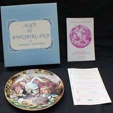 NIB 1979 Fantasy World of Alice in Wonderland Plate#4 THE MAD HATTER'S TEA PARTY